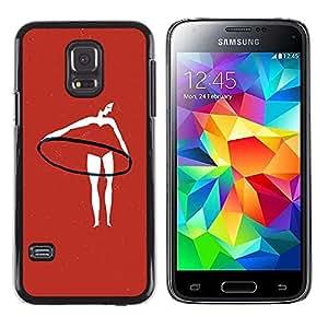 Be Good Phone Accessory // Dura Cáscara cubierta Protectora Caso Carcasa Funda de Protección para Samsung Galaxy S5 Mini, SM-G800, NOT S5 REGULAR! // Red Hula Gymnast Exercise Woman