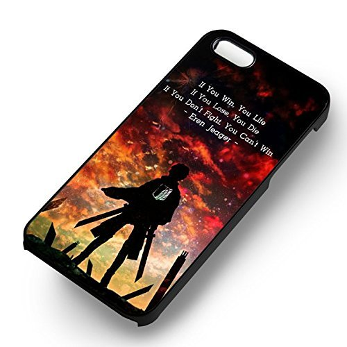 Attack On Titan Quote for Cover Iphone 6 and Cover Iphone 6s Case (Black Hardplastic Case) Y8W8TP