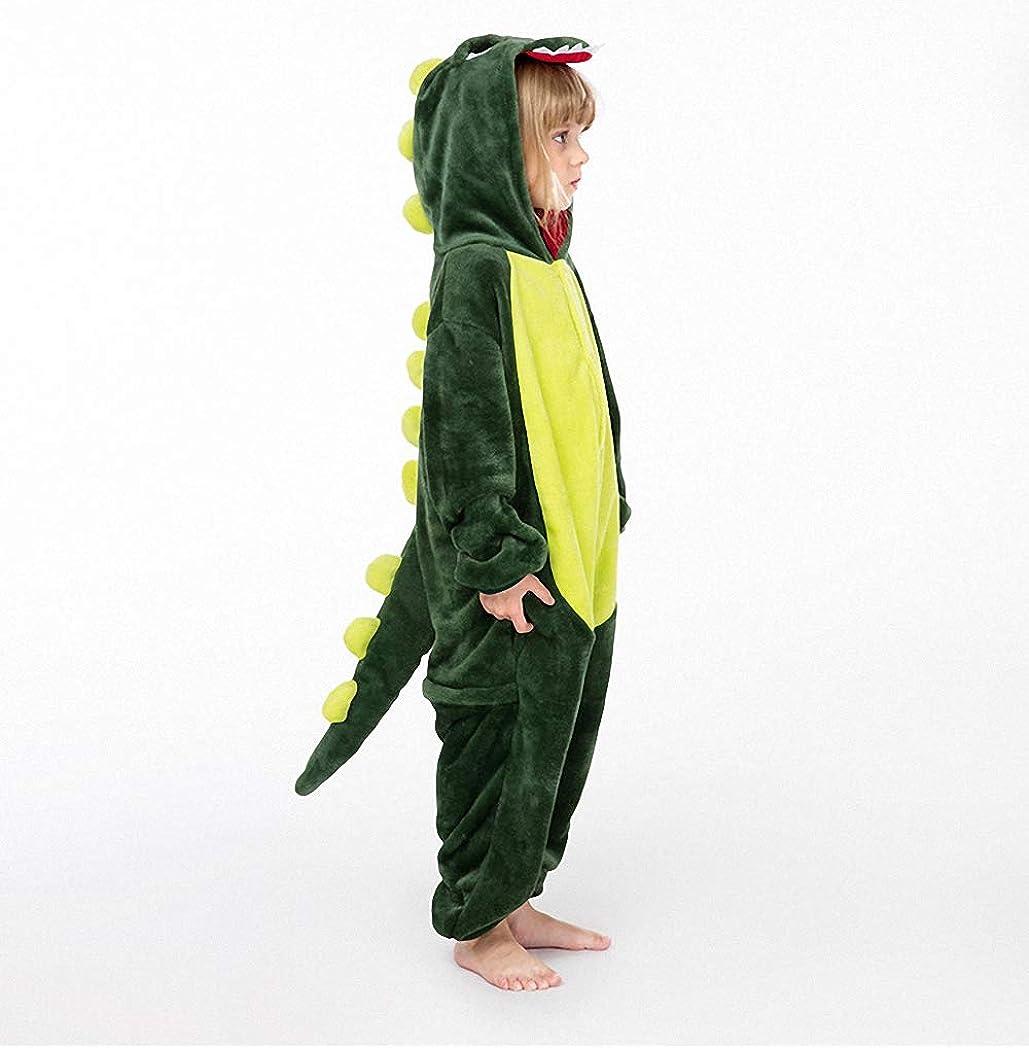 Christmas Animal Plush Yellow Pajamas Onesie Jumpsuit for Kids RESKY Dinosaur Costume