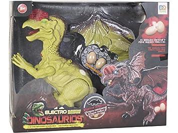 DQTOYS Dinosaurio Alado 32 cm. Andador con Luz, Sonido y 3 ...