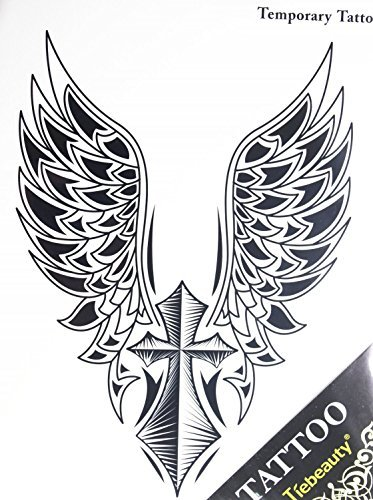 Fake tattoos hot selling fashionable large Angel wings an...