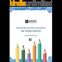 Manual de apuntes y lecciones de matematicas: Aritmética y álgebra