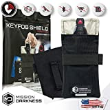 """Mission Darkness Faraday Bag for Keyfobs - Device Shielding for Smart""""Always On"""" Keyfobs for Automobile Owners, Law Enforcement, Military, Executive Privacy, Travel Security, Anti-hacking Assurance"""
