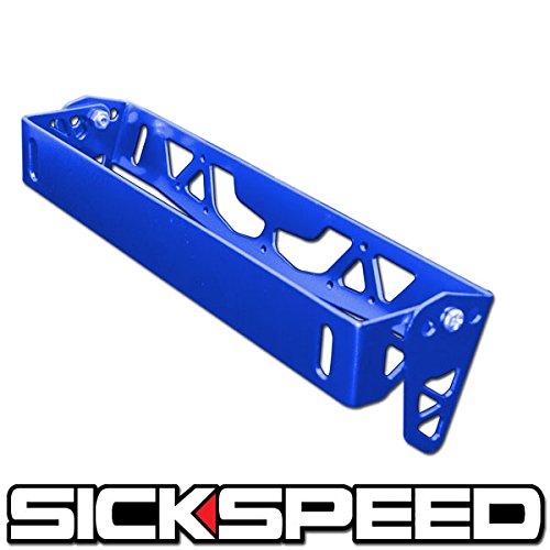 License Plate Tilt Relocation Bracket Front Bumper Billet Mount Holder Blue P4 for Dodge Challenger