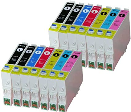 Premium 14ER Pack cartuchos de tinta para (T de 0487) T de 0481, T de 0482,