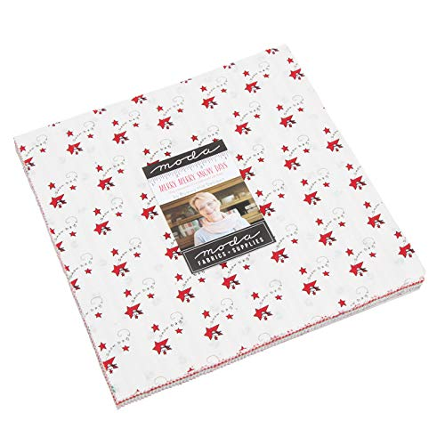 - Merry Merry Snow Days Layer Cake, 42-10 inch Precut Fabric Quilt Squares by Bunny Hill Designs for Moda Fabrics 2940LC