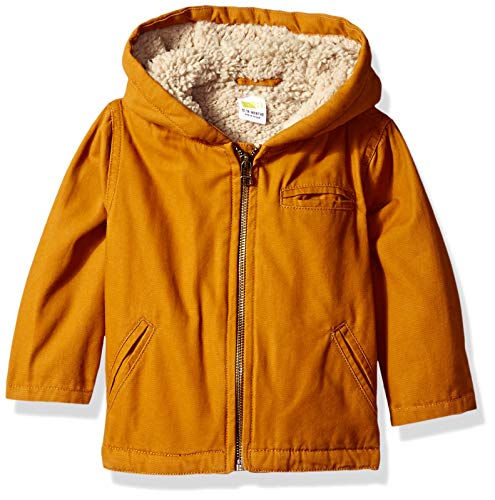 Crazy 8 Baby Boys Twill Sherpa Lined Jacket, Caramel Brown 6-12 mo