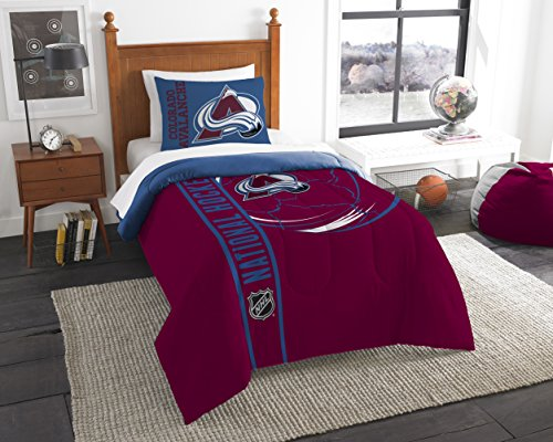 The Northwest Company Officially Licensed NHL Colorado Avalanche Draft Twin Comforter and (Colorado Avalanche Comforter)