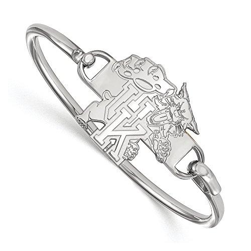 NCAA Sterling Silver University of Kentucky Hook Style Bangle, 8 inch by LogoArt