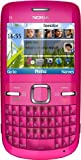 Nokia C3-00 Unlocked Cell Phone with QWERTY, Dedicated E-mail Key, 2 MP Camera, Media Player, WiFi, and MicroSD Slot--international Version with Warranty (Pink)