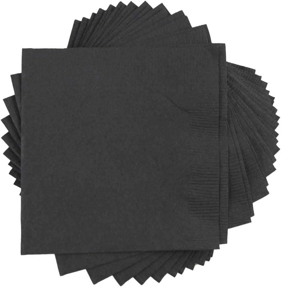 Jam Paper Small Beverage Napkins 5 X 5 Black 50 Pack Kitchen Dining Amazon Com