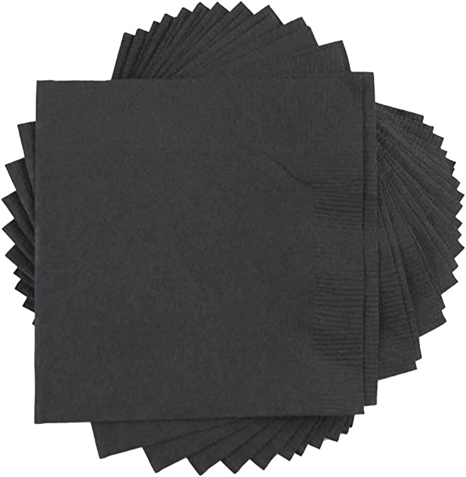 Jam Paper Small Beverage Napkins 5 X 5 Black 50 Pack Kitchen Dining Amazon Com