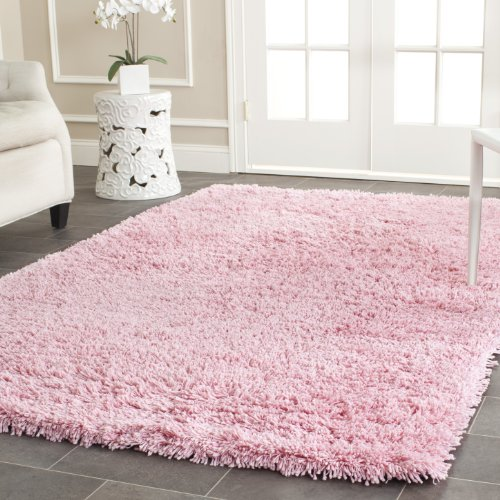 - Safavieh Classic Shag Collection SG240P Handmade Pink Area Rug (3' x 5')