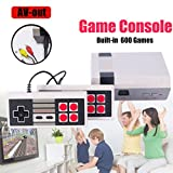 Console Entertainment System Classic Retro 80's UPGRADE to 600 games ENGLISH,8-Bit Console Games,Dual Control