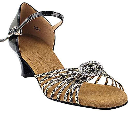 "Women's Ballroom Dance Shoes Salsa Latin Practice Shoes S9283EB Comfortable-Very Fine 1.2"" [Bundle of 5]"
