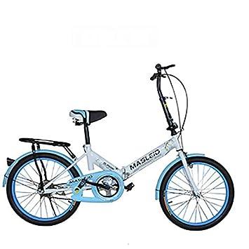 MASLEID Bicicleta plegable/Señora velocidad estudiante del niño/bicicleta de la bicicleta, white