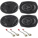 Rockville 6x9 Front+Rear Factory Speaker Replacement For 2002-2006 Toyota Camry