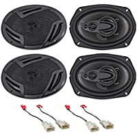 2002-2006 Toyota Camry Rockville 6x9 Front+Rear Factory Speaker Replacement Kit