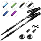Power Lock Trekking Poles w/Sweat Absorbing EVA Grips - 2 pc Pack - Your Light and Sturdy Adjustable Hiking/Walking Sticks Come with Tungsten Tips and Multi-Surface Tip Covers