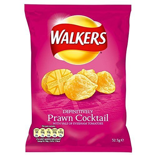 (Walkers Crisps - Prawn Cocktail (32.5g) - Pack of 6 by Walkers (Crisps, Snacks & Dips))