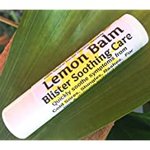 """LEMON BALM Blister Soothing Care STICK! Quickly soothe Cold Sores, Shingles, Chicken Pox, Rashes, Herpes, Molluscum, Bug Bites. Suppress future outbreaks. 100% Natural. """"Goodbye, itchy red bumps!"""" (1)"""