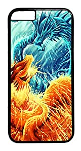 "ICORER Advanced iphone 6 plus Case, Ice Dragon Vs Fire Dragon Polycarbonate Hard Case for Apple iPhone 6 Plus 5.5"" Black"