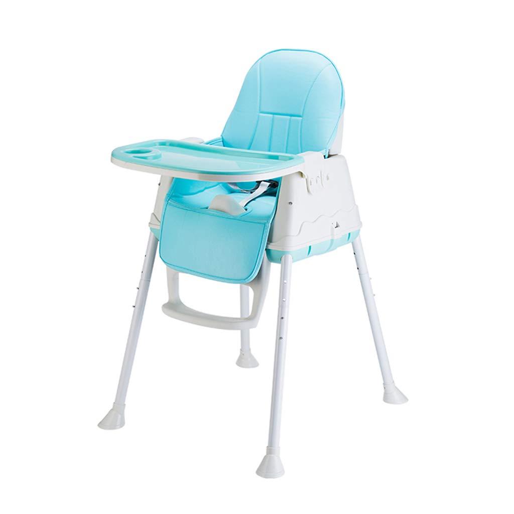 ベビーハイチェア、折りたたみ可能な赤ちゃん授乳マット、プーリー付きベビー多機能式椅子、高さ調節可能な高さ調節椅子 B07KZQK4RK