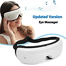 HOTINLEE Eye Mask Massage to Relieve Eye Stress,Air Pressure Massage, Hot Compress Eye to Promote Sleep,Comfortable and Super Soft Eye Mask with Adjustable Strap,Relief Fatigue Ultimate Sleeping Aid