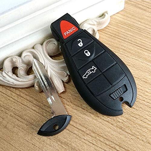 SaverRemote 4 Button Key Fob Compatible for 2008-2010 Chrysler 300 2008-2012 Dodge Challenger/&Charger