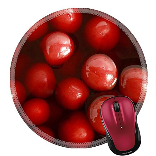 Liili Round Mouse Pad Natural Rubber Mousepad Cherry compote for backgrounds or textures Photo 23031470 (Round Compote)