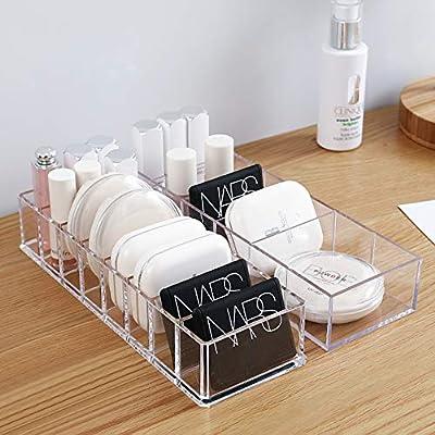 ZHXY Caja de pintalabios Expositor de pintalabios Organizador de Maquillaje Transparente Ajustable para Brochas de Maquillaje,Esmalte de Uñas,L ápices Labiales,la Joyería apilable Versátil Sistema: Amazon.es: Hogar