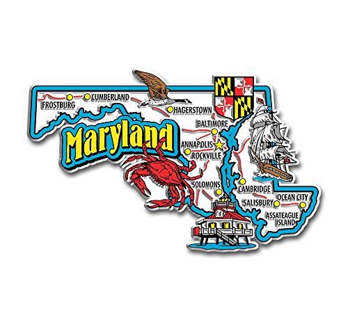 Maryland State Jumbo Map ()