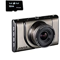 Topepop Car DVR Camera Full HD 1080P Driving Recorder Dash Camcorder Vehicle Camera WDR Night Vision with 32G TF Card