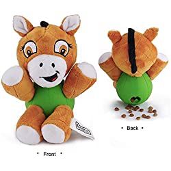 EETOYS Squeaky Plush Toy Interactive Animal Treat Dispensing Toy for Dog Horse