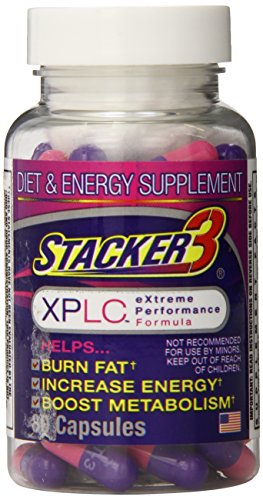 Stacker 3 XPLC- Extreme Performance Formula | Burn Body Fat, Boost Energy & Kickstart Metabolism (80-Count Bottle) by STACKER 2