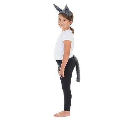 Amazon.com: Juego de orejas y cola de lobo para niños, talla ...