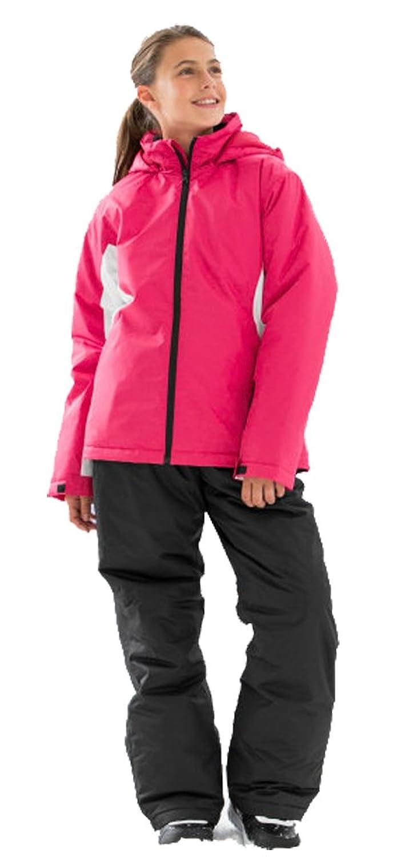 Mädchen Skianzug pink-schwarz Schnneeanzug Ski Anzug Gr. 116 / 128 / 140 / 152 /164 wählbar
