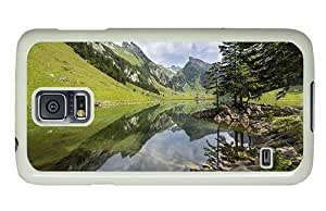 Hipster Samsung Galaxy S5 Case awesome mountain lake summer PC White for Samsung S5