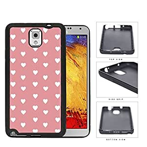 Hearts Pattern On Pink Background Rubber Silicone TPU Cell Phone Case Samsung Galaxy Note 3 III N9000 N9002 N9005