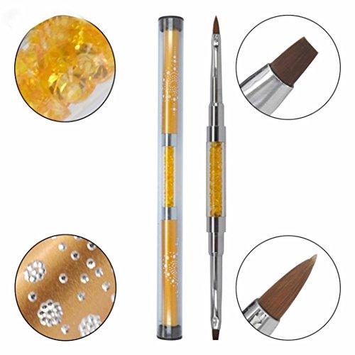 Women's Nail Pen, Iuhan Women Gel Nail Brush Nail Tools Brus