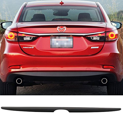 - Trunk Spoiler Fits 2014-2018 Mazda 6 | OE Style Unpainted Black ABS Flush Mount Trunk Boot Lip Spoiler Wing Deck Lid By IKON MOTORSPORTS | 2015 2016 2017