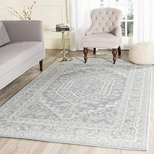 - Safavieh Adirondack Collection ADR108T Slate and Ivory Oriental Vintage Medallion Area Rug (8' x 10')