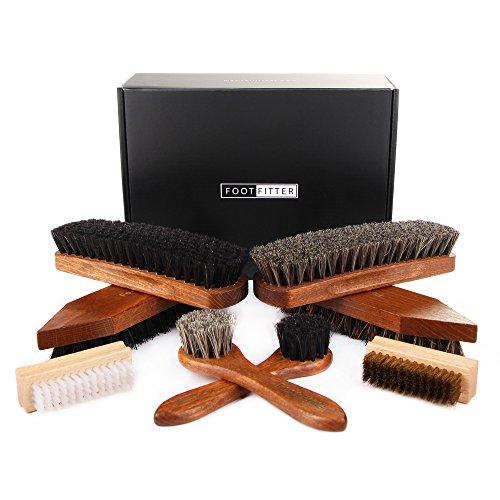 FootFitter Classic Shoe Brush Set, 8 pieces