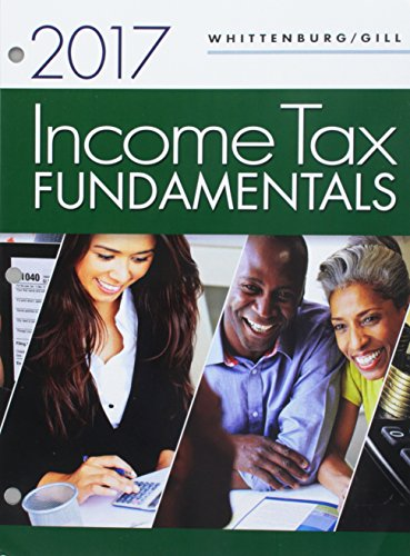 Top income tax fundamentals 2017 loose leaf