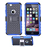 Case for iPhone 6 ,Fetrim Rugged Dual Layer Shockproof TPU Case Protective Cover for Apple iPhone 6 6S with Built-in Kickstand (Blue)