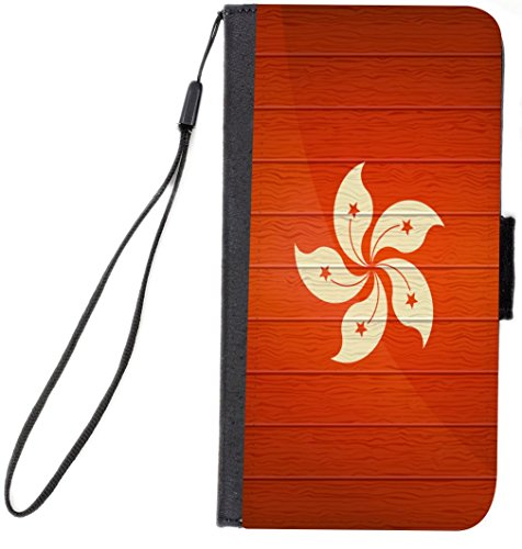Rikki Knight Hong Kong Flag On Distressed Wood Design, Ce...