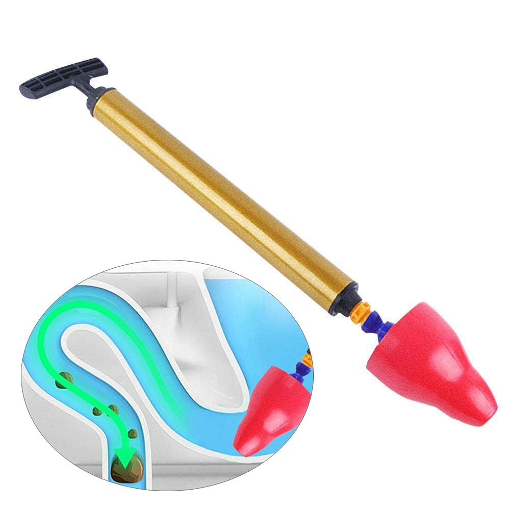 Toilet Plunger, Powerful High Pressure Manual Multi Drain Buster Dredge Opener Suitable for Bathroom,Toilet