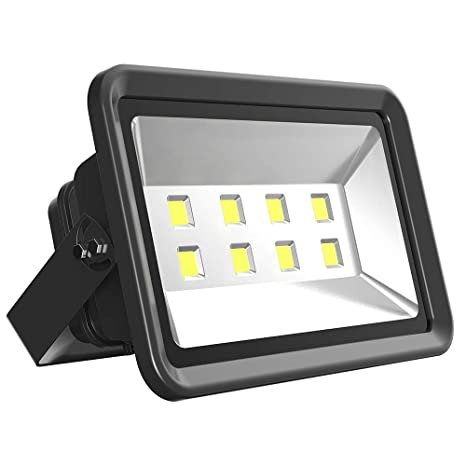 Morsen LED Flood Light 400W, IP65 Waterproof Indoor Outdoor 6000K Super  Bright Security Wall Light