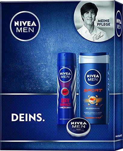 Nivea Men Geschenkset Sport Deo, Duschgel und Crème, 1er Pack (1 x 3 Stück)