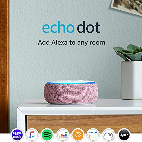 Echo Dot (3rd Gen) - Smart speaker with Alexa - Plum Fabric